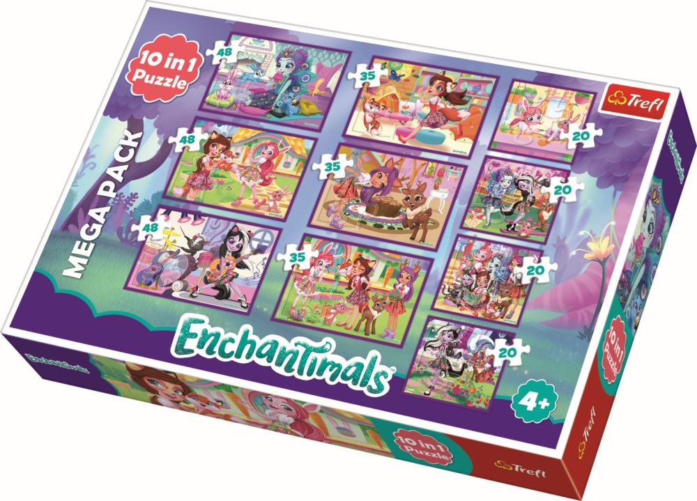 Puzzle Trefl 10in1 Aventurile Enchantimals