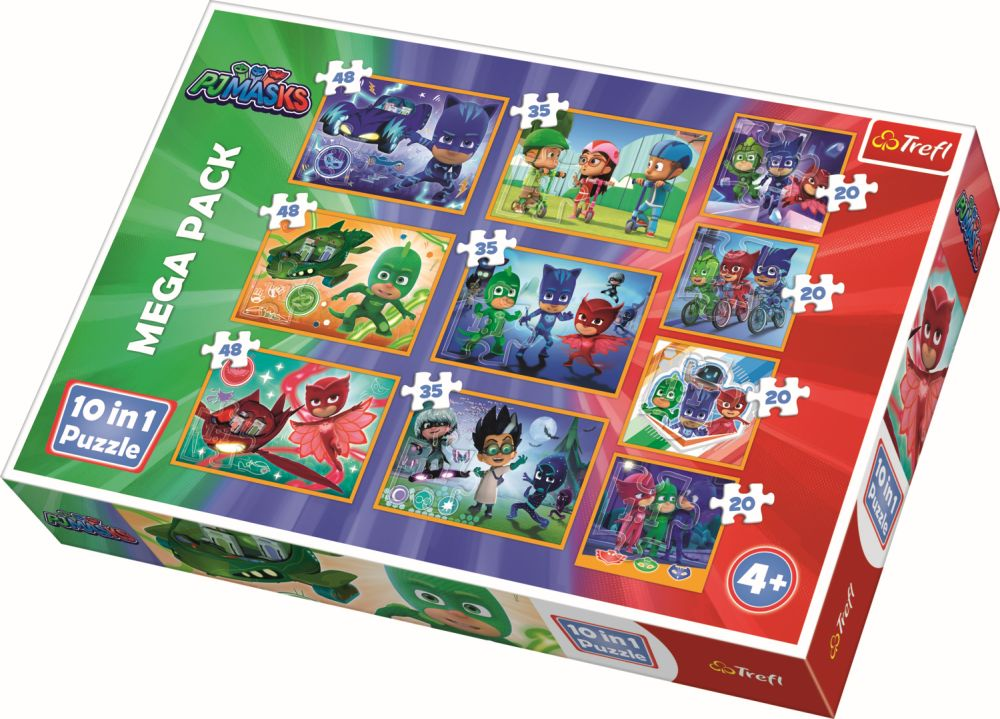 Puzzle Trefl 10in1 Curajosii Eroi In Pijamale