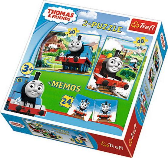 Puzzle Trefl 2in1 Memo Thomas Si Prietenii