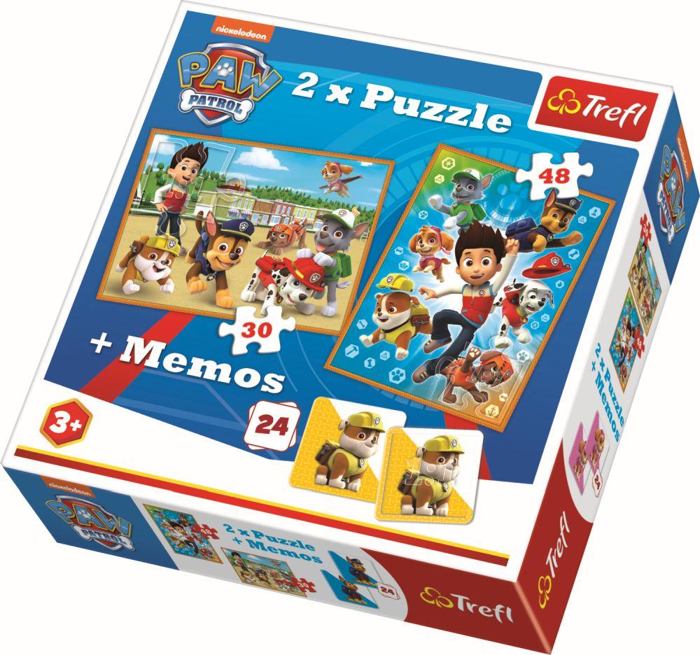 Puzzle Trefl 2in1 Memo Patrula Catelusilor