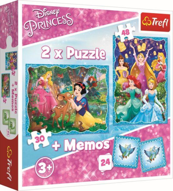 Puzzle Trefl 2in1 Memo Minunata Lume A Printeselor