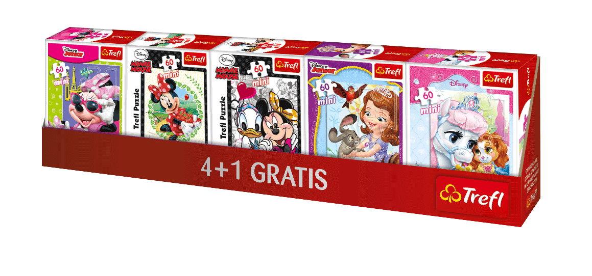 Puzzle Trefl Mini 60 Licente Disney Pentru Fetite