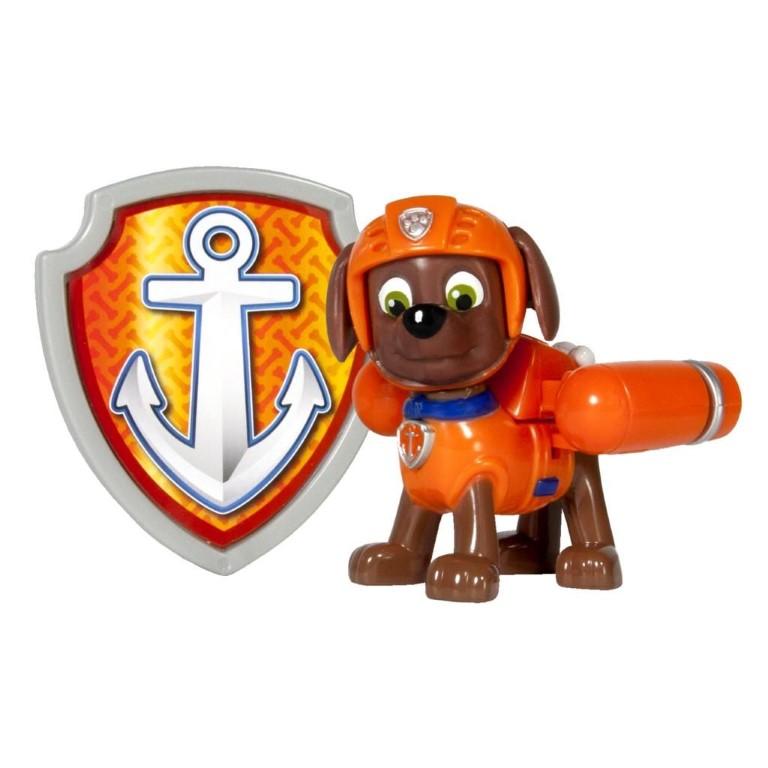 Figurina Si Insigna Paw Patrol Zuma Salvamar 6.3 Cm