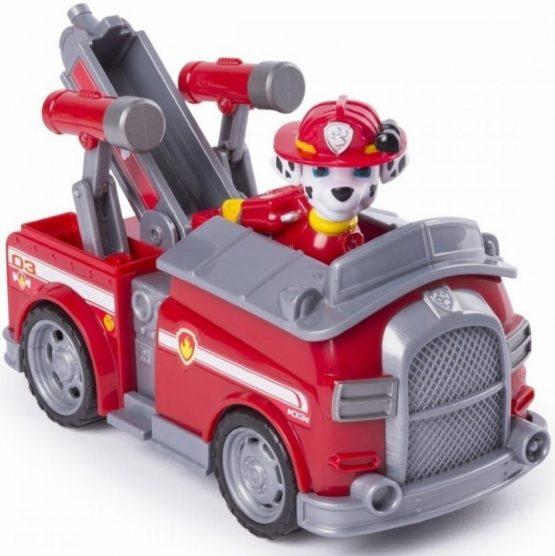 Figurina Si Autovehicul Paw Patrol Marshall Si Masina De Pompieri
