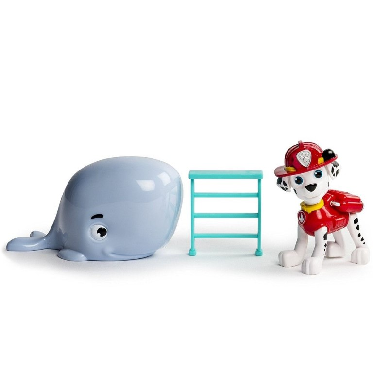 Set Figurine Spin Master Paw Patrol Marshall Si Baby Whale