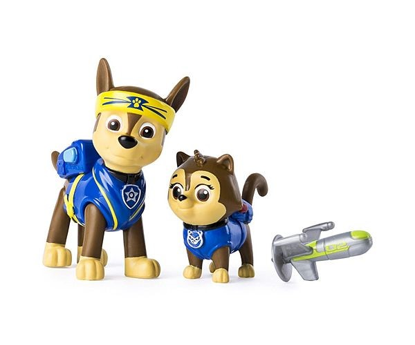 Set Figurine Spin Master Paw Patrol Pup Fu Chase Si Kitty