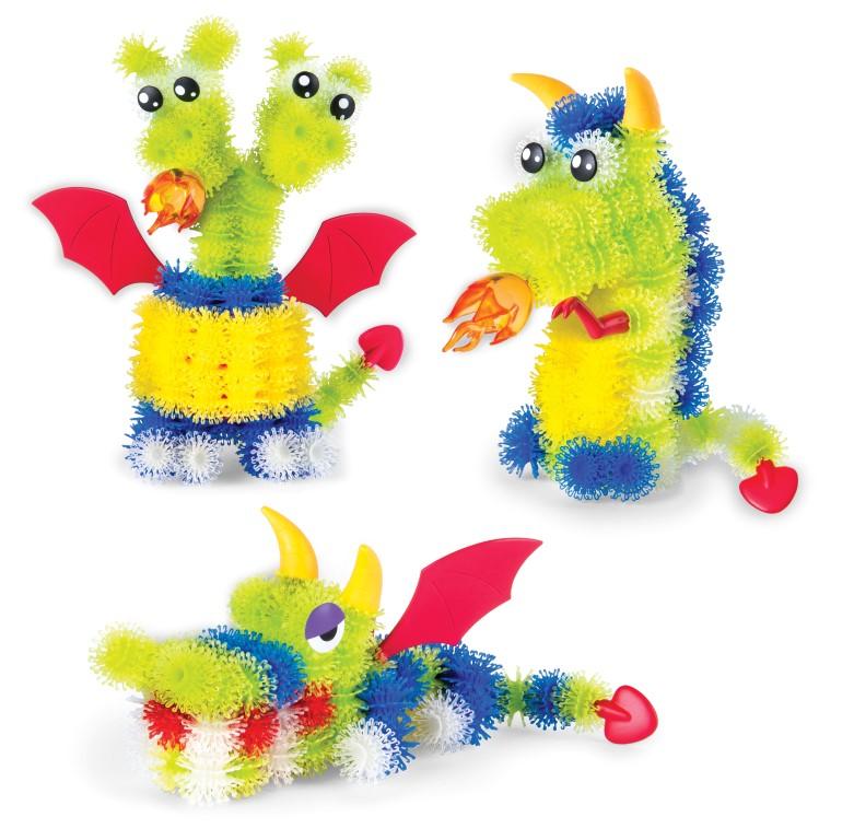 Set Creativ Spin Master Bunchems Dragoni Stralucesc In Intuneric