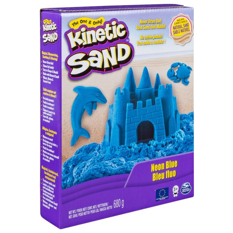 Nisip Kinetic Deluxe Culori Neon 680grame Albastru