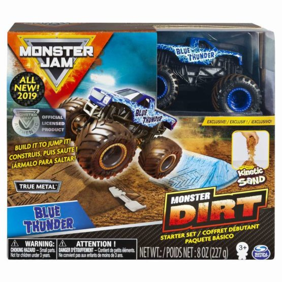 Monster Jam Set Camioneta Cu Nisip Blue Thunder