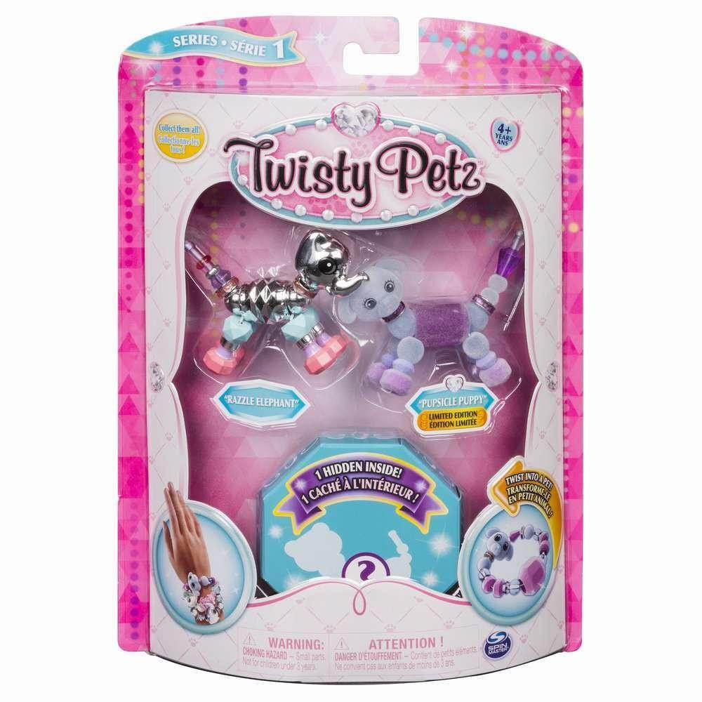 Twisty Petz Set 3 Bratari Animalute Elefant Catel Leusor