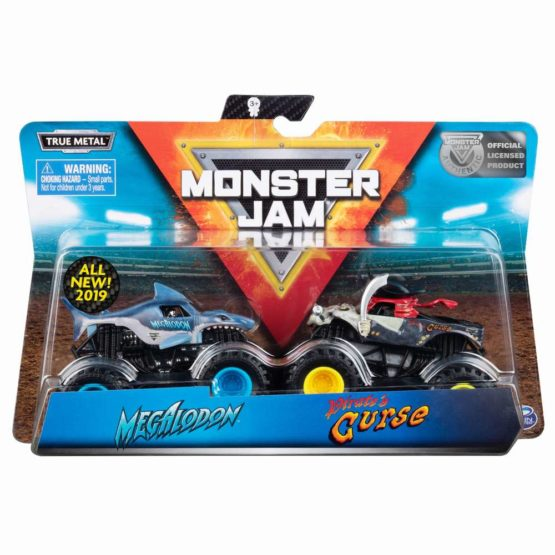 Monster Jam Set 2 Machete Megalodon Si Pirates Curse
