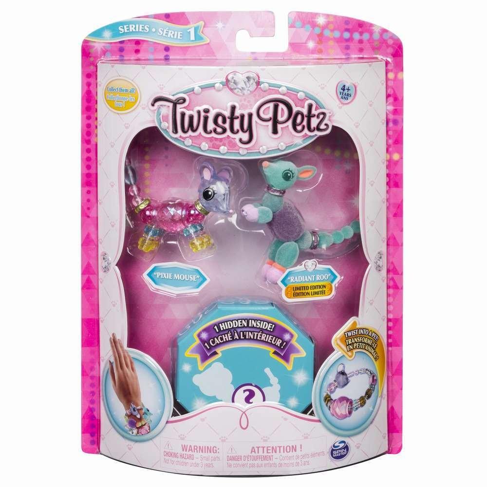 Twisty Petz Set 3 Bratari Animalute Soricel Cangur Caprioara