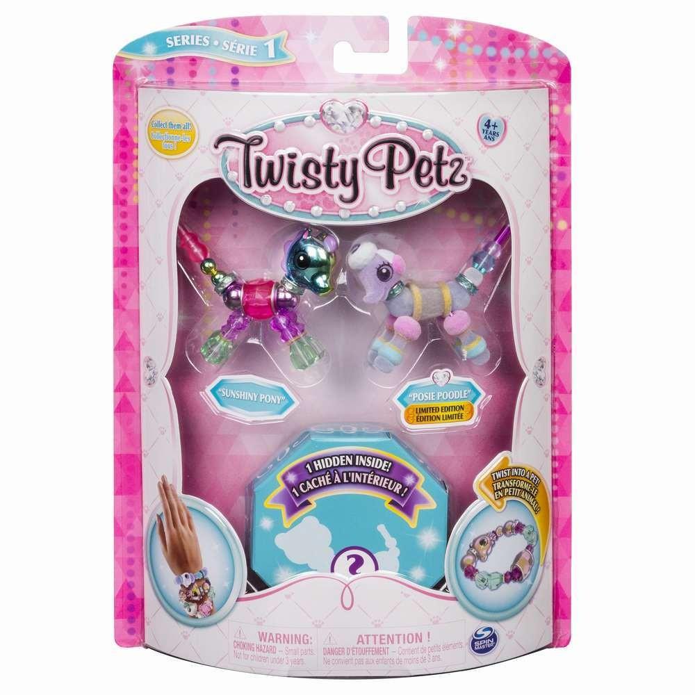 Twisty Petz Set 3 Bratari Ponei Pudel Pisica