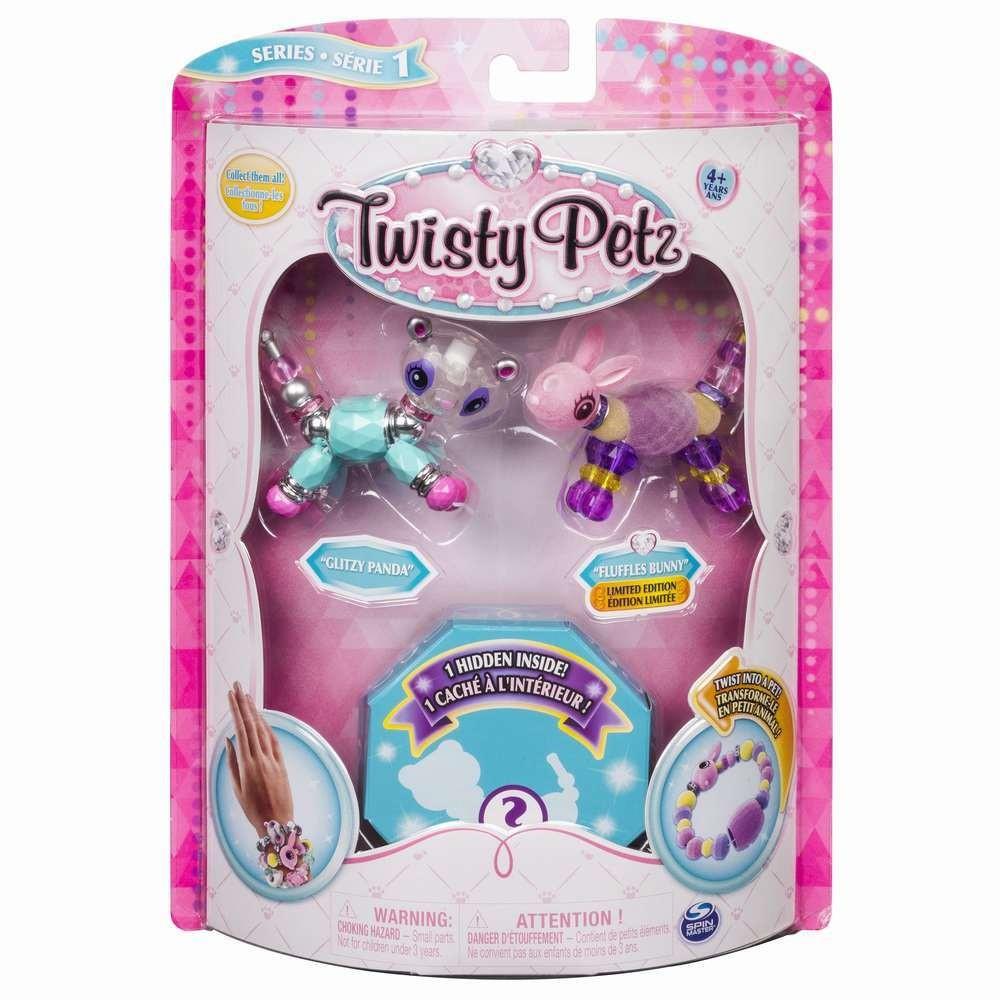 Twisty Petz Set 3 Bratari Animalute Panda Iepuras Pisica