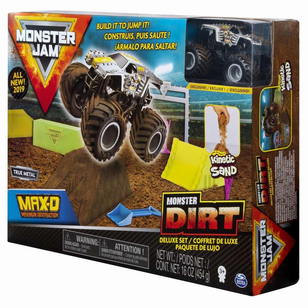 Monster Jam Set Camioneta Cu Nisip Si Accesorii Maxfun