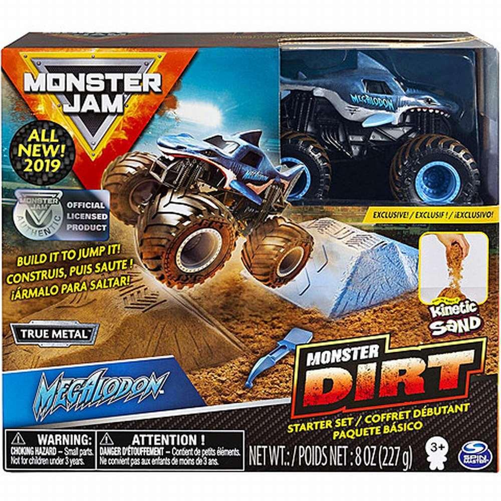 Monster Jam Set Camioneta Cu Nisip Megalodon