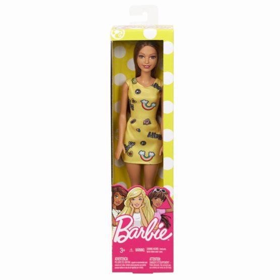 Barbie Papusa Clasica Satena Si Cu Rochita Galbena