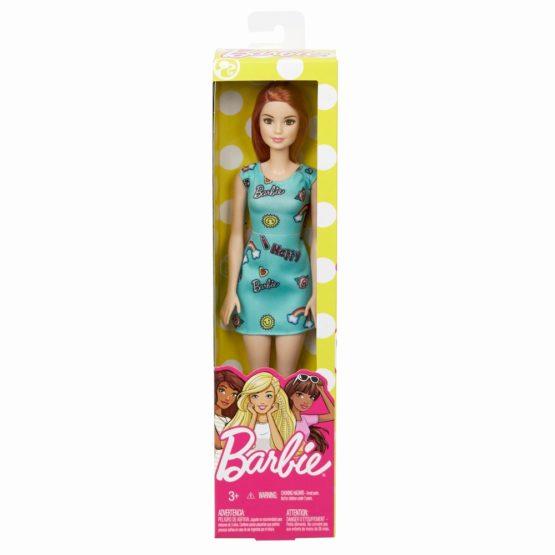 Barbie Papusa Clasica Roscata Si Cu Rochita Albastra