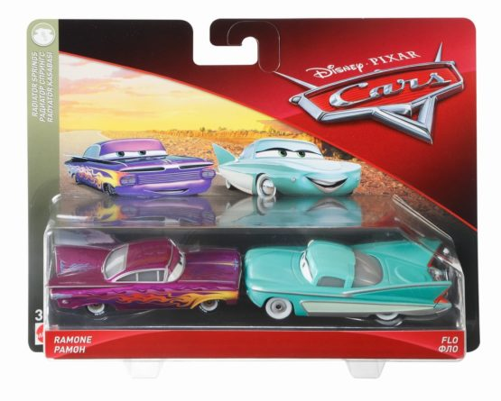 Cars 3 Personaj Die Cast Pachet 2 Masini Ramone Si Flo