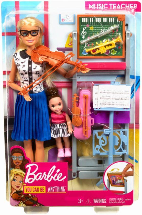 Barbie Cariere Set Mobilier Cu Papusa Profesoara De Muzica
