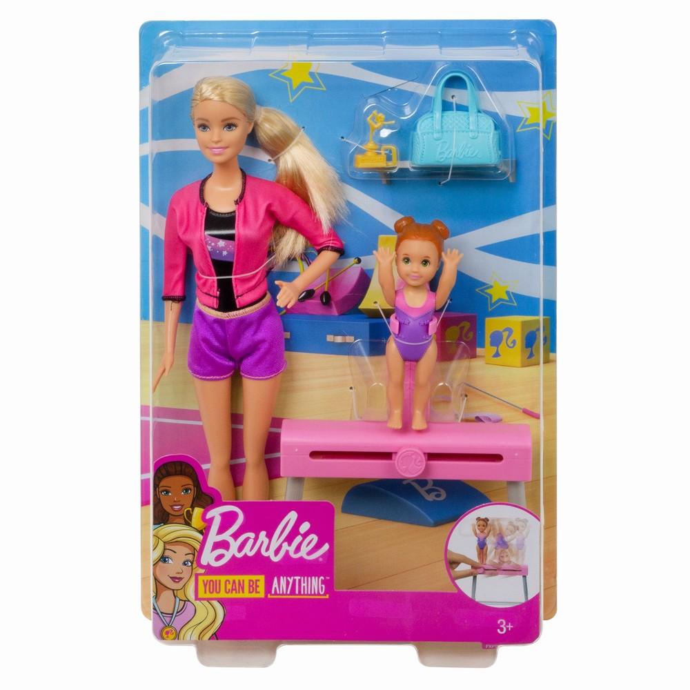 Papusa Barbie Blonda Cariera In Sport Antrenoare De Gimnastica