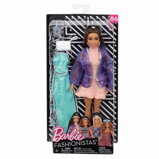 Papusa Barbie Fashionista Cu Rochita Verde De Schimb