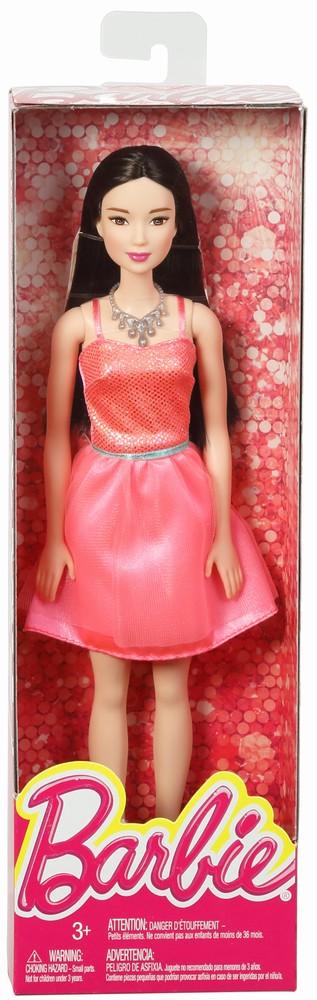 Papusi Barbie Tinute Stralucitoare Bruneta Cu Rochita Roz