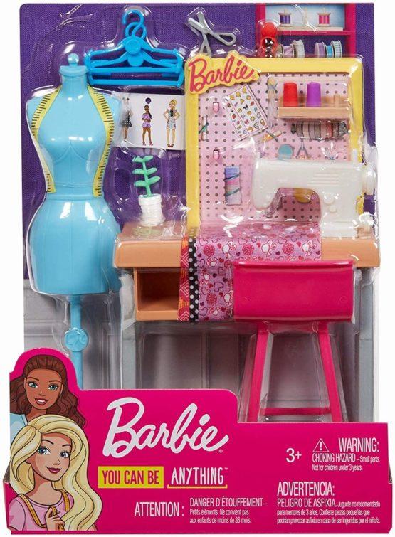 Set De Joaca Barbie Mobilier Studio Moda