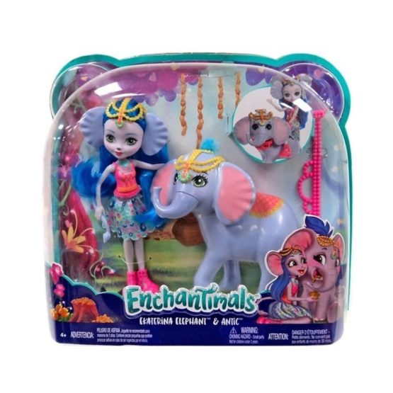 Enchantimals Set Papusa Cu Animalut Elefantul Ekaterina