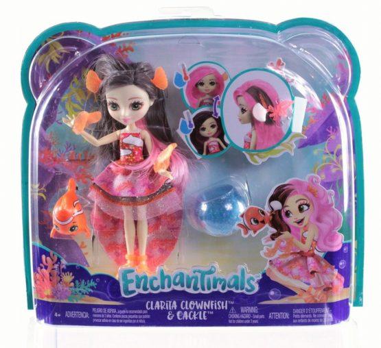 Enchantimals Papusa Clarita Clownfish Cu Par Ce Schimba Culoarea
