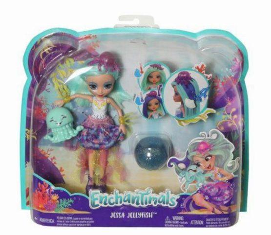 Enchantimals Papusa Jessa Jellyfish Cu Par Ce Schimba Culoarea