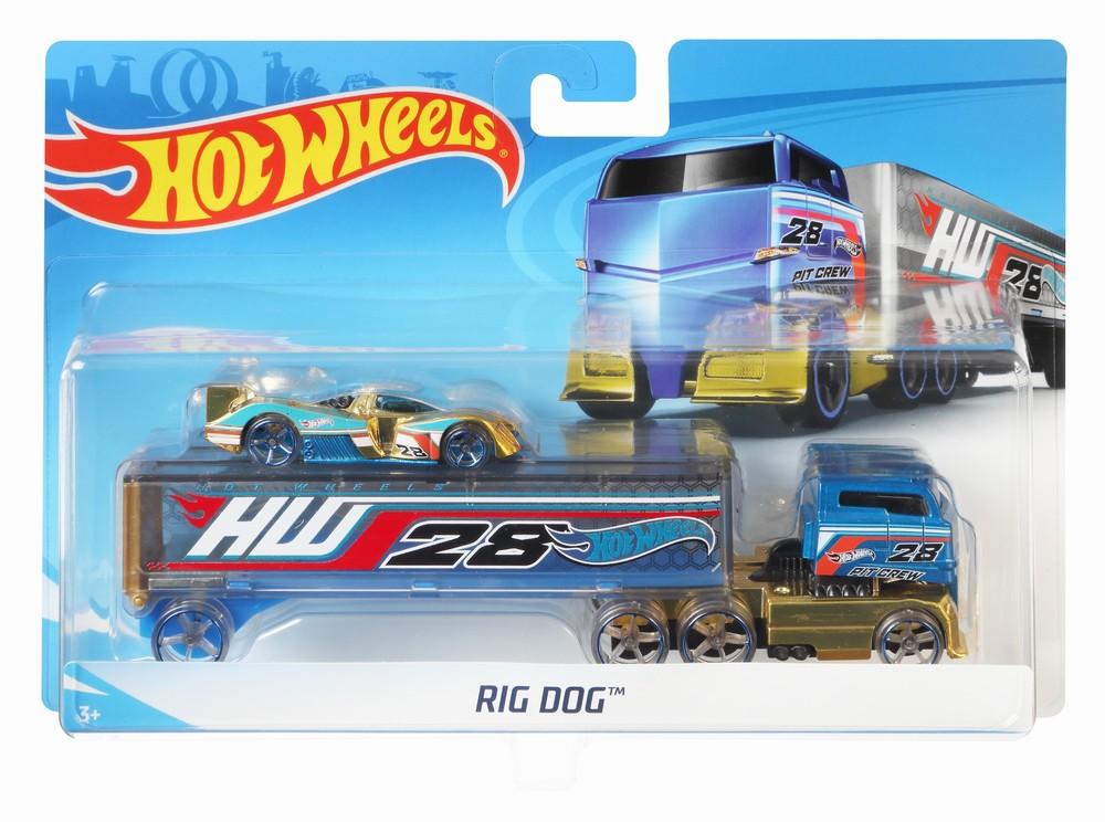 Set Camion Si Masina Sport Hot Wheels Rog Dog