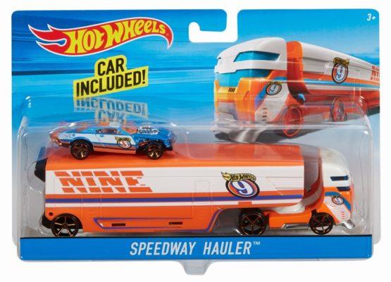 Set Camion Si Masina Sport Hot Wheels Speedway Hauler