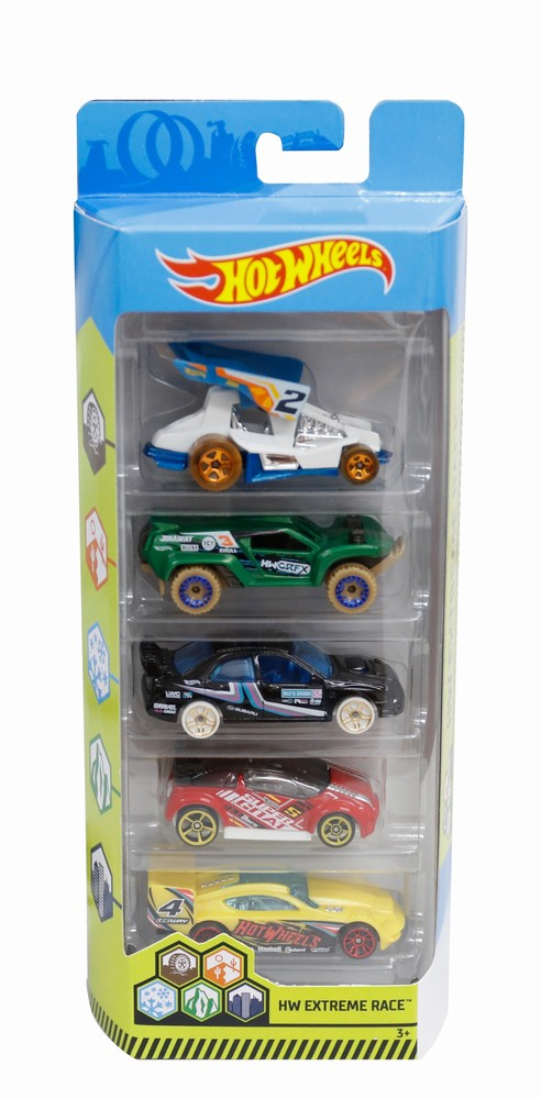 Set 5 Masini Hot Wheels Extreme Race