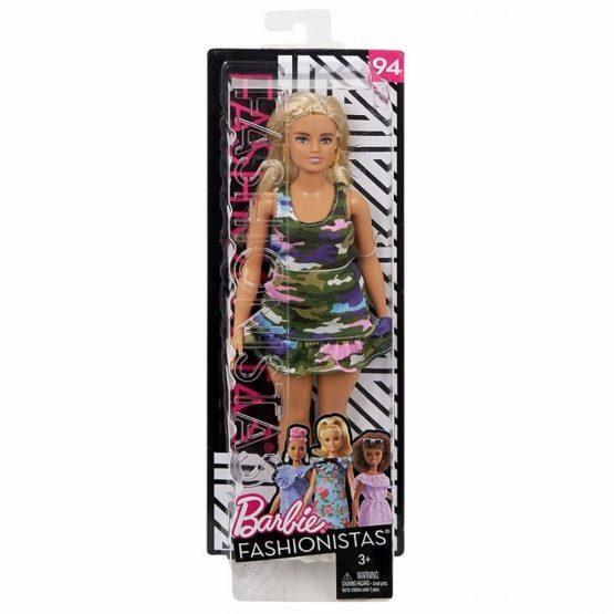 Papusa Barbie Fashionista Cu Forme Si Suvite Blonde