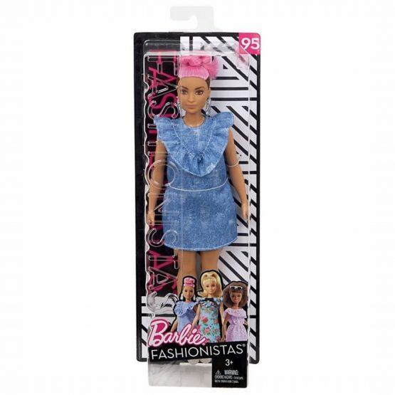Papusa Barbie Fashionista Cu Coc Roz
