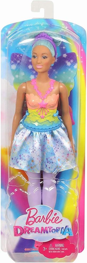 Papusa Barbie Printesa Zana Cu Parul Albastru