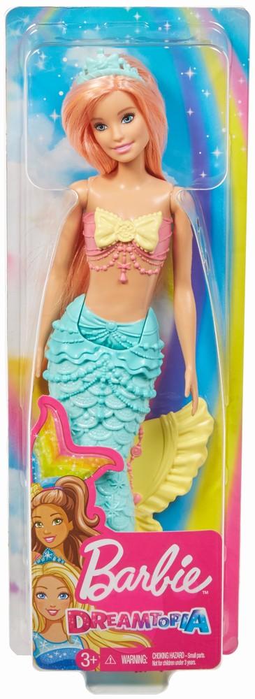 Barbie Papusa Dreamtopia Sirena Cu Parul Roz
