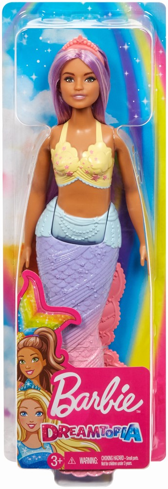 Barbie Papusa Dreamtopia Sirena Cu Parul Mov