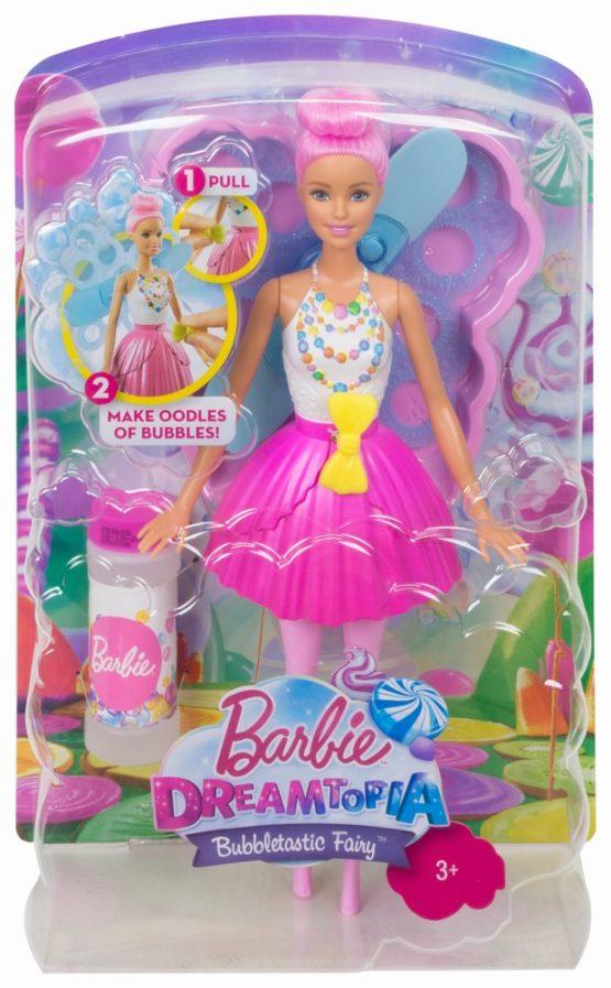 Papusa Barbie Zana Balonase De Sapun Cu Parul Roz