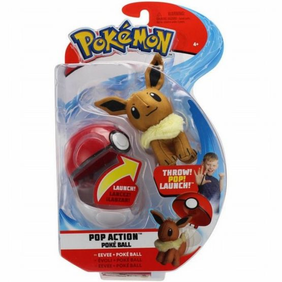 Pokemon Figurina Eevee In Bila Lansatoare