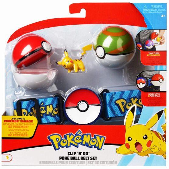 Pokemon Set Curea Cu Figurina Pikachu Si Doua Bile