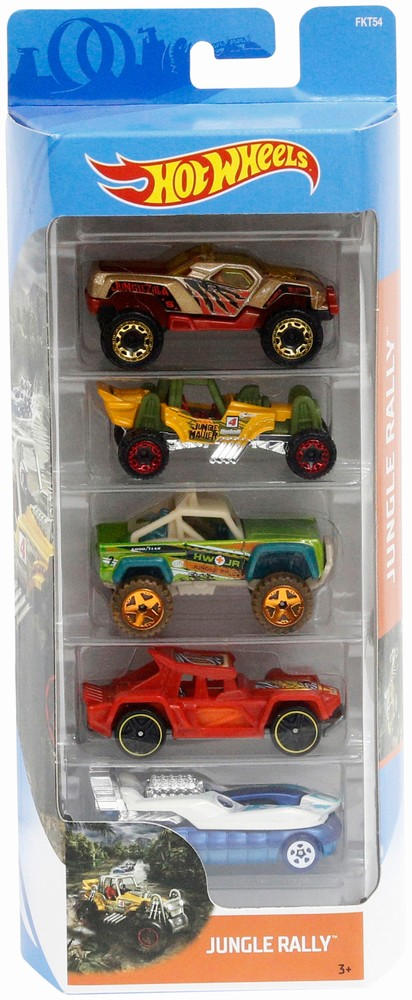 Set 5 Masinute Hot Wheels Jungle Rally