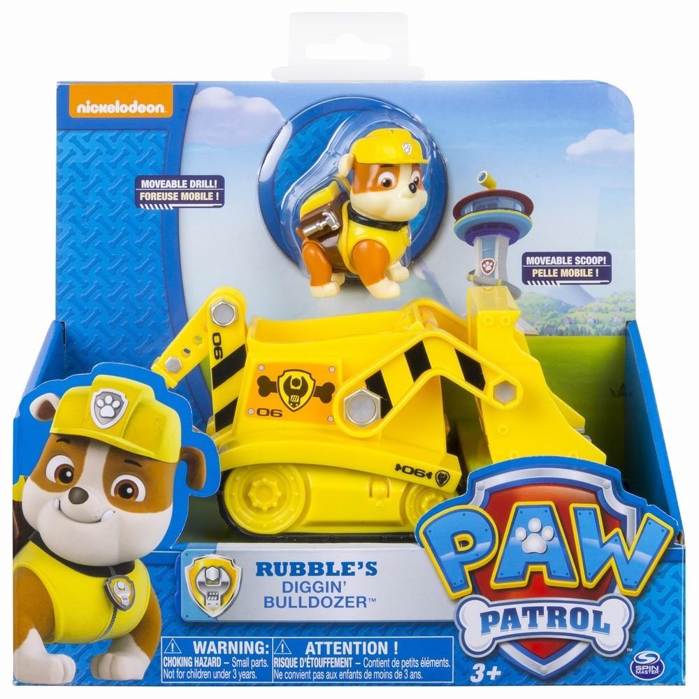 Figurina Cu Autovehicul Paw Patrol Buldozerul Lui Rubble