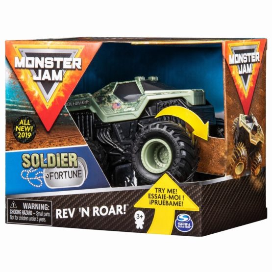 Monster Jam Macheta Soldier Of Fortune Seria Roar Scara 1 La 43