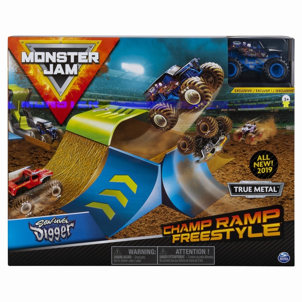 Monster Jam Set Cascadorii Rampa Campionilor