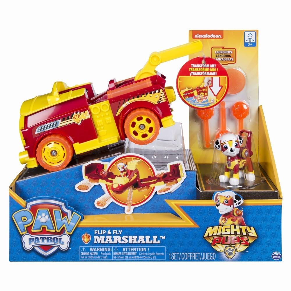 Patrula Catelusilor Vehicul Flip And Fly Cu Marshall