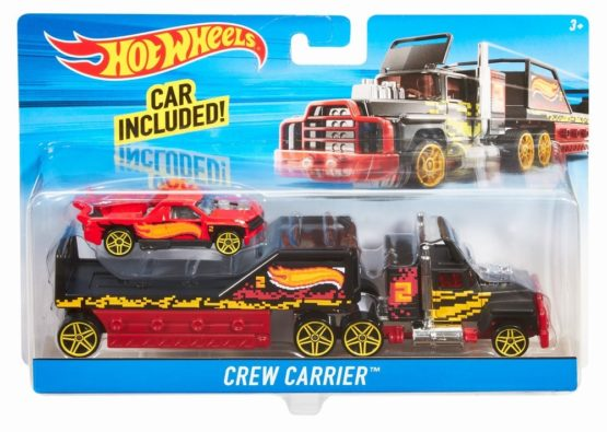 Hot Wheels Set Camion Si Masina Sport Crew Carrier