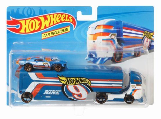Hot Wheels Set Camion Si Masina Speedway Hauler