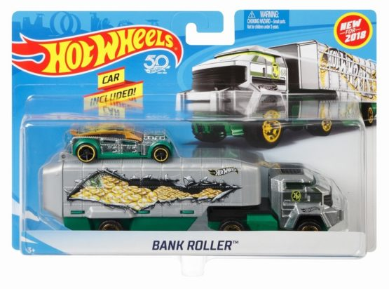 Hot Wheels Set Camion Si Masina Bank Roller